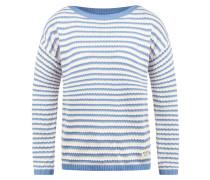 Strickpullover 'Hilde' hellblau / weiß