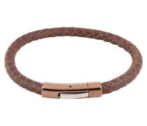 Armband aus Leder braun