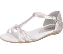 Sandale mit Flechtdetail rosé / silber