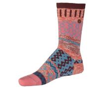 Socken 'Inuit II' mischfarben / rosé