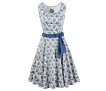 Trachtenkleid blau / naturweiß