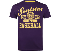 T-Shirt gelb / lila