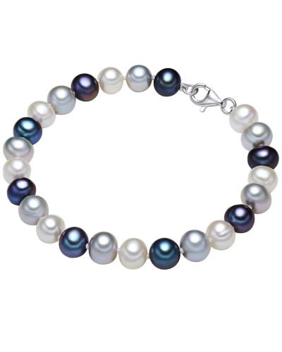 Silberarmband mit Perlenbesatz