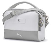 Handtasche 'Ferrari' grau / weiß