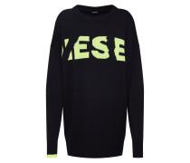 Oversized Pullover 'k-Logox' schwarz / weiß