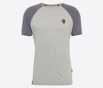 T-Shirt 'Dachrinne' grau / lila