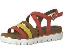 Sandale braun / gelb / rot / weiß