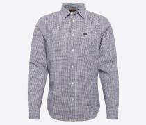 Hemd 'worker Shirt' anthrazit / weiß