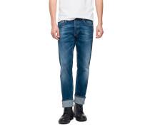 Jeans Grover Super-Stretch-Denim blau