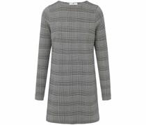Long-Shirt mit Rundhals-Ausschnitt grau