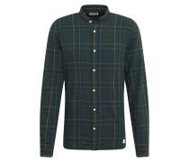 Hemd 'grandad check shirt' dunkelgrün