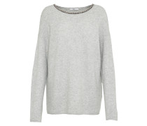 Pullover 'Embellished' hellgrau