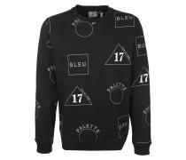Sweater mit Allover-Print schwarz