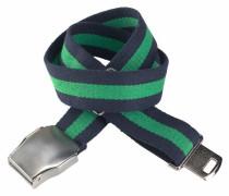 Stoffgürtel navy / grün