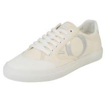 Sneaker im Canvas-Look creme / weiß