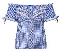Bluse 'Clio' blau / weiß