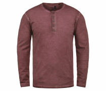 Rundhalsshirt 'Timur' rot / rotmeliert