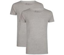 2er-Pack T-Shirts grau