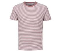 Streifen T-Shirt rostrot / weiß