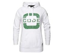 Sweatshirt 'Transire' grün / weiß