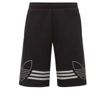 Shorts 'Outline' schwarz / weiß