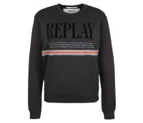 Sweatshirt grau / rot / schwarz