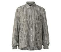 Bluse oliv / weiß