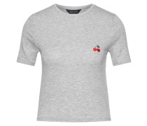 T-Shirt 'cherry Pocket PP Fitted' grau