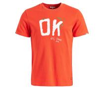T-Shirt 'Elijah Ok' orange / weiß