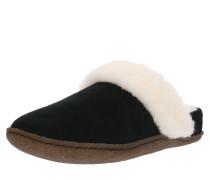 Pantolette 'Nakiska' schwarz / weiß