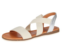 Sandale 'Beta' silber / weiß