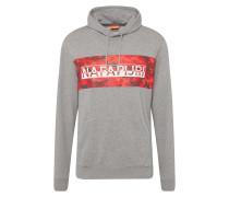 Sweatshirt 'balka H' grau / rot