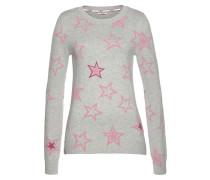 Pullover hellgrau / pink / rosa