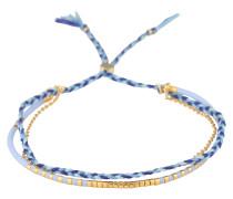 Armband 'Paradise' blau / gold