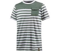 T-Shirt oliv / weiß