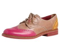 Halbschuh pink / gelb / braun
