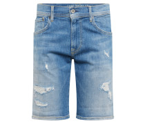 Shorts 'Cane' blue denim