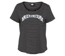 T-Shirt 'everest' schwarz / weiß