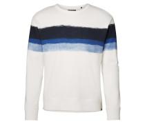 Sweatshirt blau / weiß