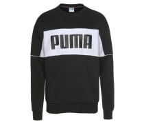 Sweatshirt 'Retro Crew' schwarz / weiß