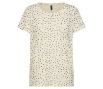 Shirt 'Vania' beige / hellblau