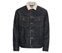 Jeansjacke 'sherpa Jacket' blue denim
