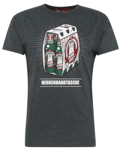 Shirt 'Herrenhandtasche Reloaded' dunkelgrau