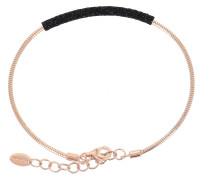 Armband 'wdnab187' rosegold / schwarz