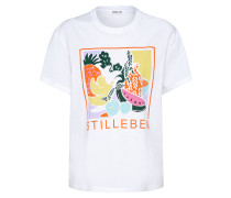 T-Shirt 'Tara' mischfarben / weiß