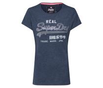 T-Shirt blaumeliert / weiß