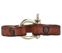 Bracciali Armband Leder 22 cm braun