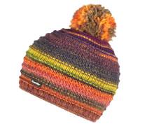 Mütze lila / gelb / orange / dunkelgrün