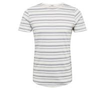 Shirt 'derek' hellgrau / weiß