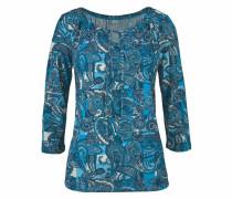 3/4-Arm-Shirt blau